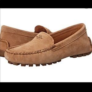 Coach suede loafers amber